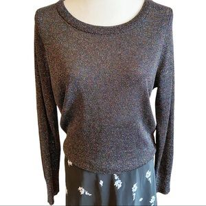 Parker black and multicoloured metallic sweater